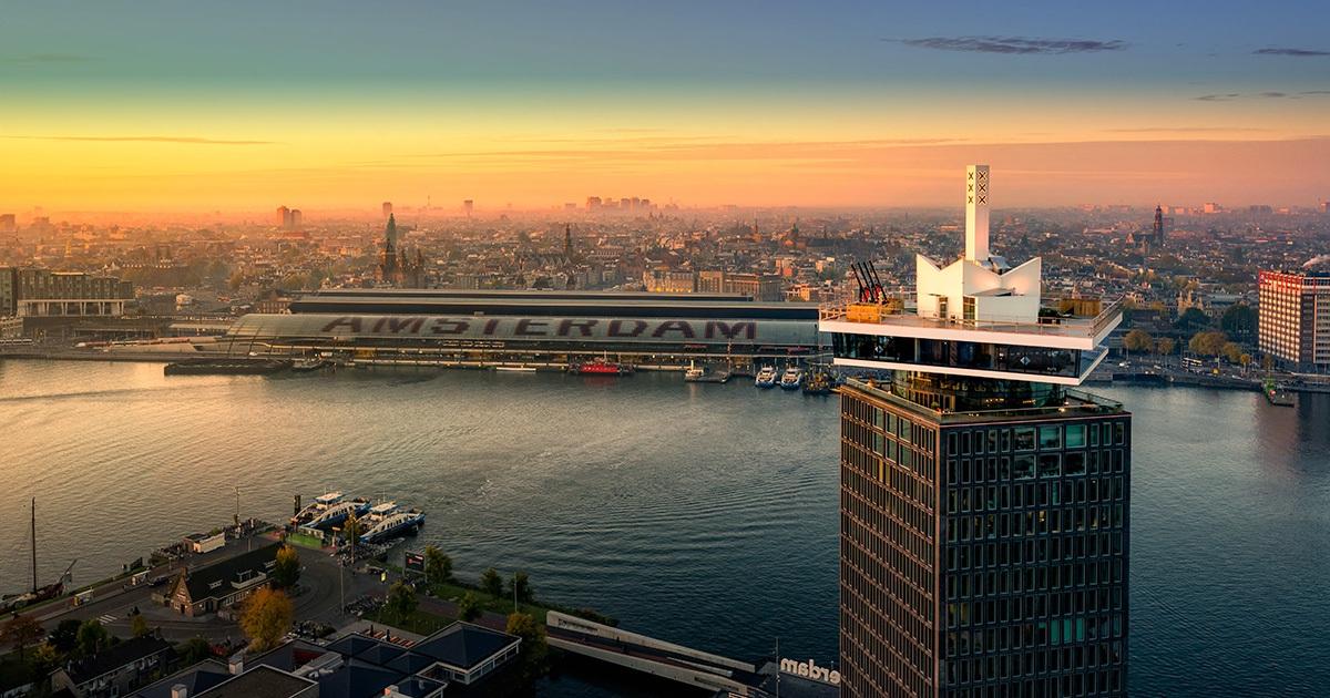 [Amsterdam] Audio Obscura a diffusé 3 lives au 16ème étage de la sublime tour A'Dam