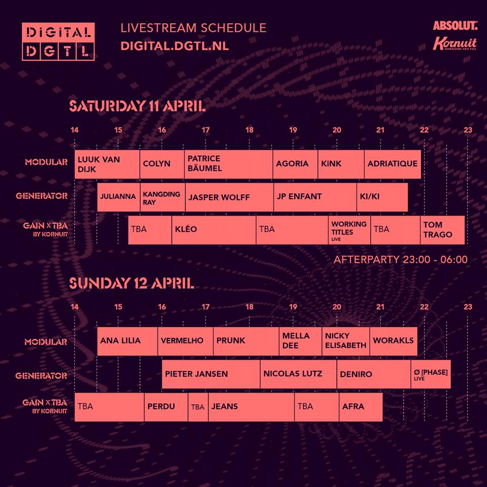 Timetable du DGTL Digital