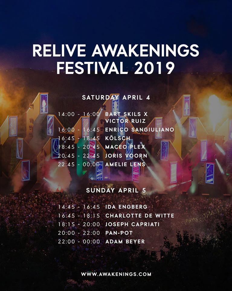 timetable Awakenings livestream