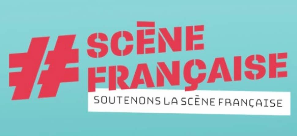 """Slogan de la Sacem """"Soutenons la scène française"""""""