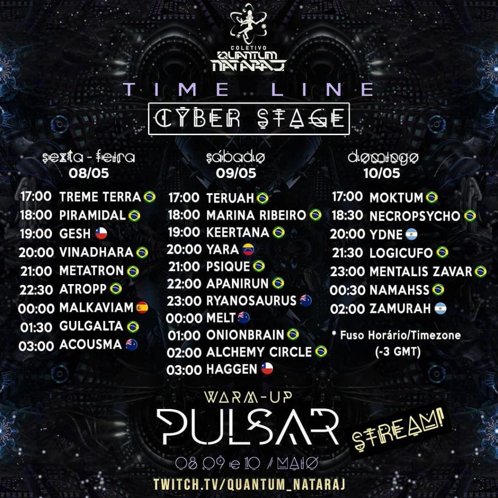 Timetable du warm up pulsar