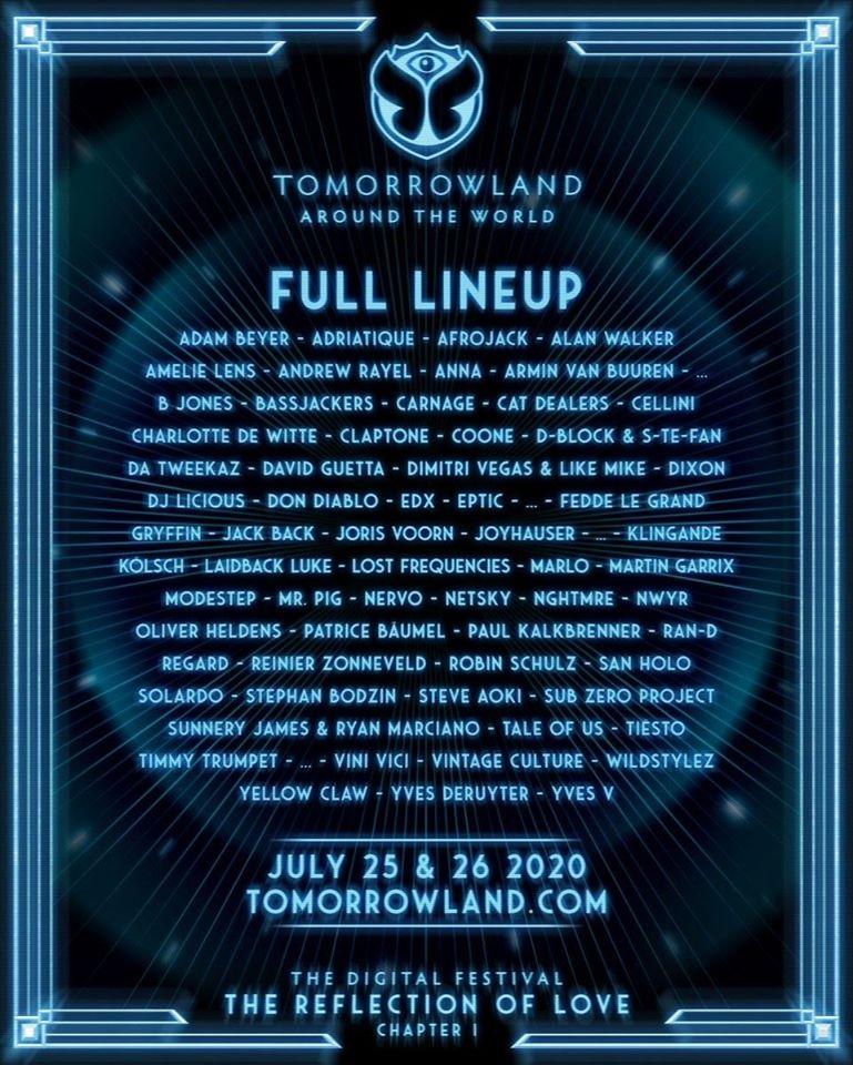Programmation du festival Tomorrowland Around The World