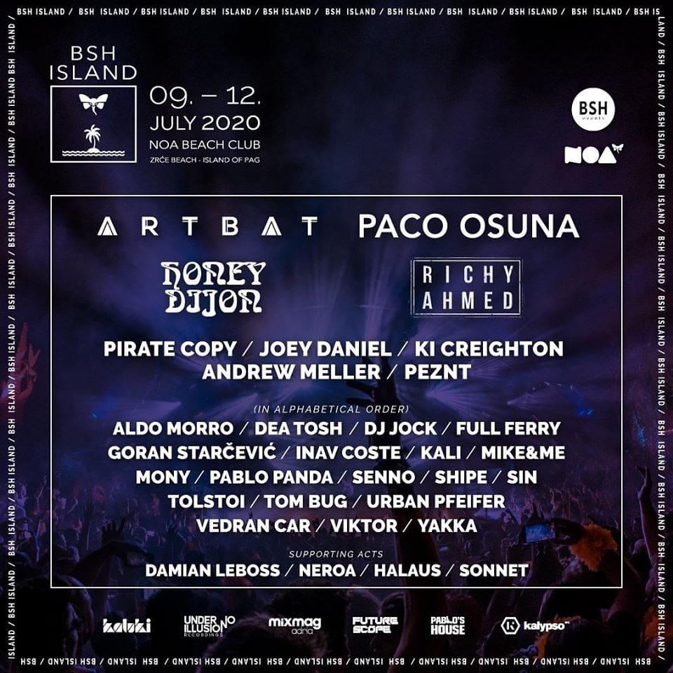 photo du line up du festival