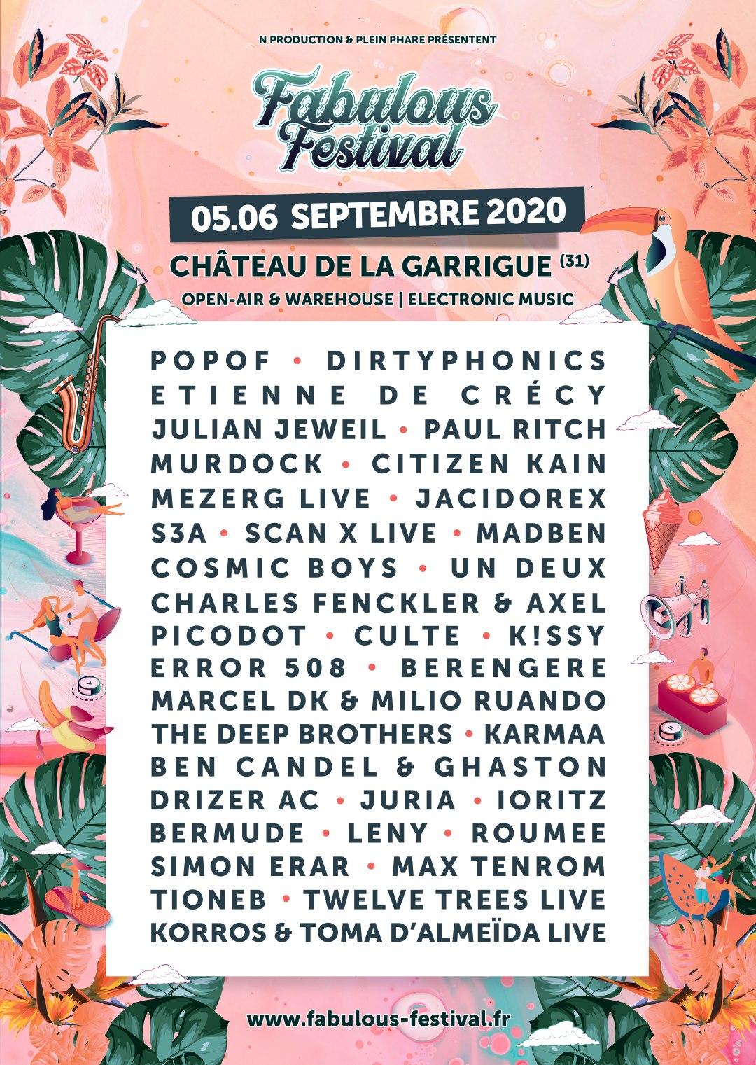 Programmation Fabulous Festival
