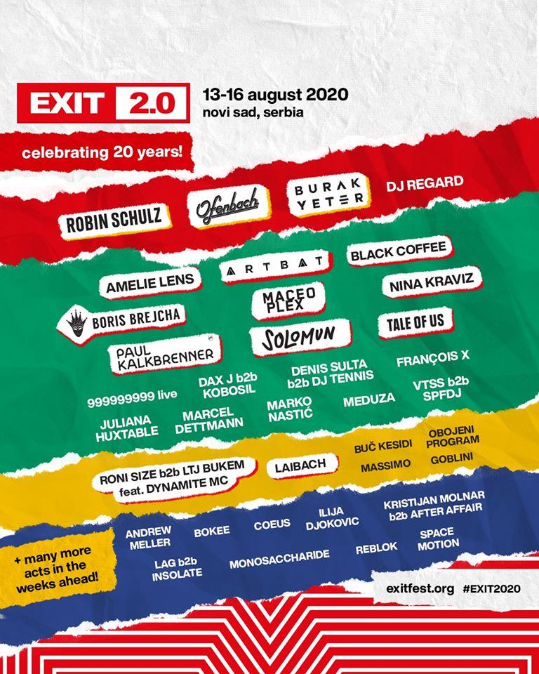 Programmation de l'Exit Festival