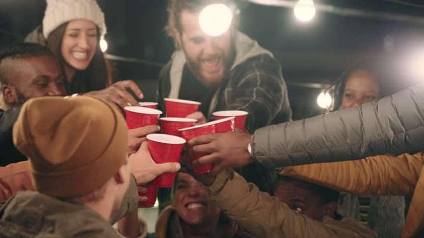 Photo d'une soirée avec des Red Cup