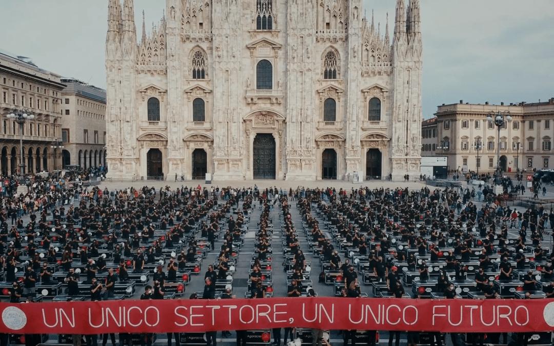 [VIDÉO] L'incroyable manifestation des professionnels du spectacle à Milan