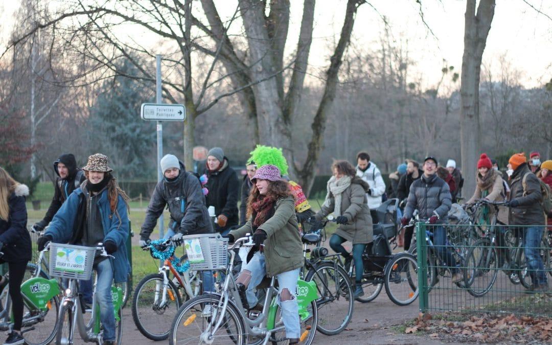Strasbourg : une Techno Parade à vélo a réuni une centaine de personnes samedi dernier