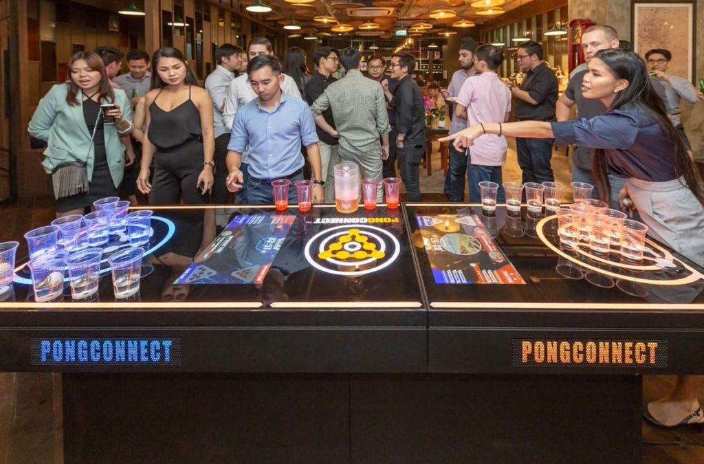 Un breton lance le concept des tables de bière-pong interactives en France