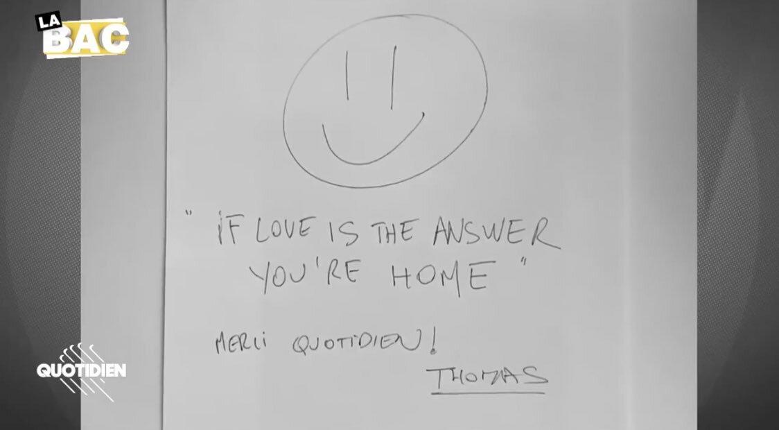 Le message de Thomas Bengalter
