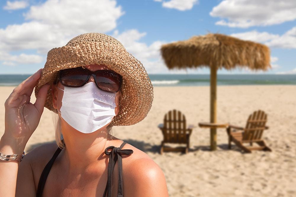 Le port du masque obligatoire sur les plages d'Ibiza