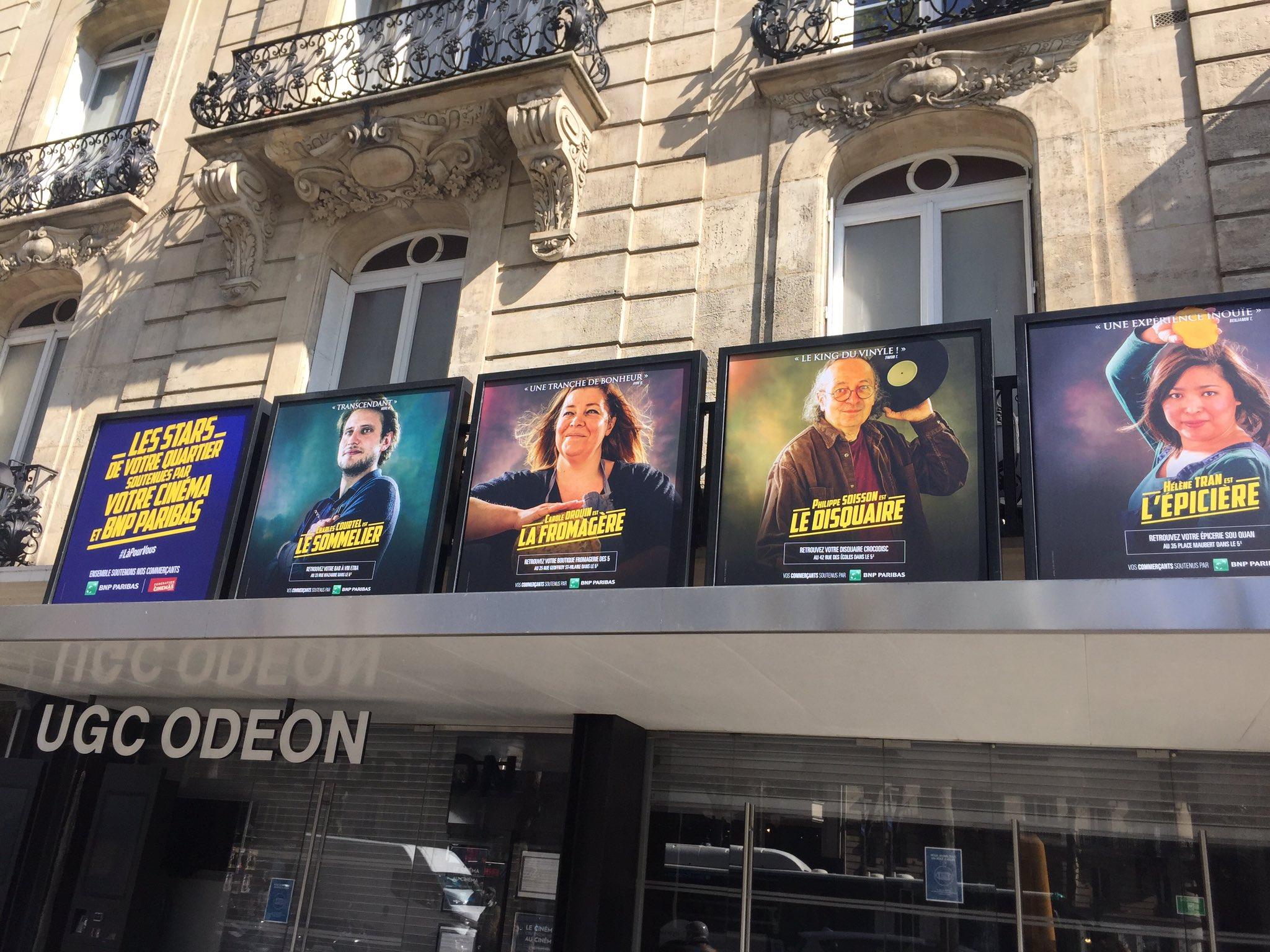 Commerçants à l'affiche des cinémas à Paris