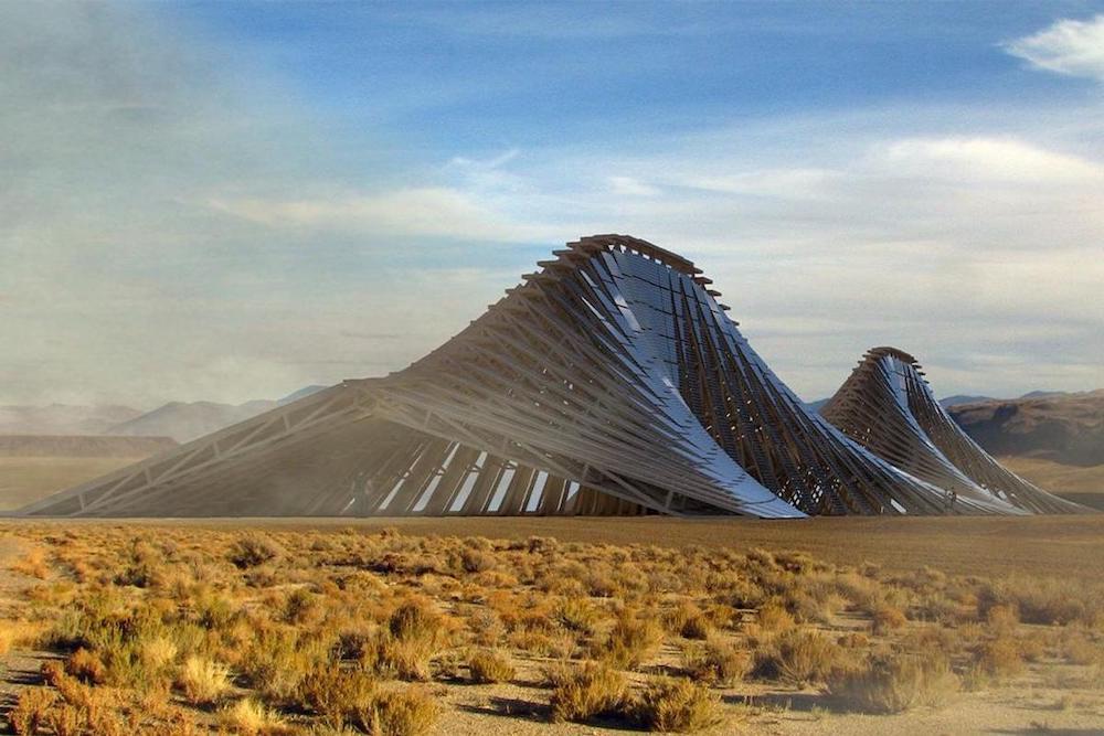 Cette immense structure solaire a été conçue pour alimenter le Burning Man en énergie