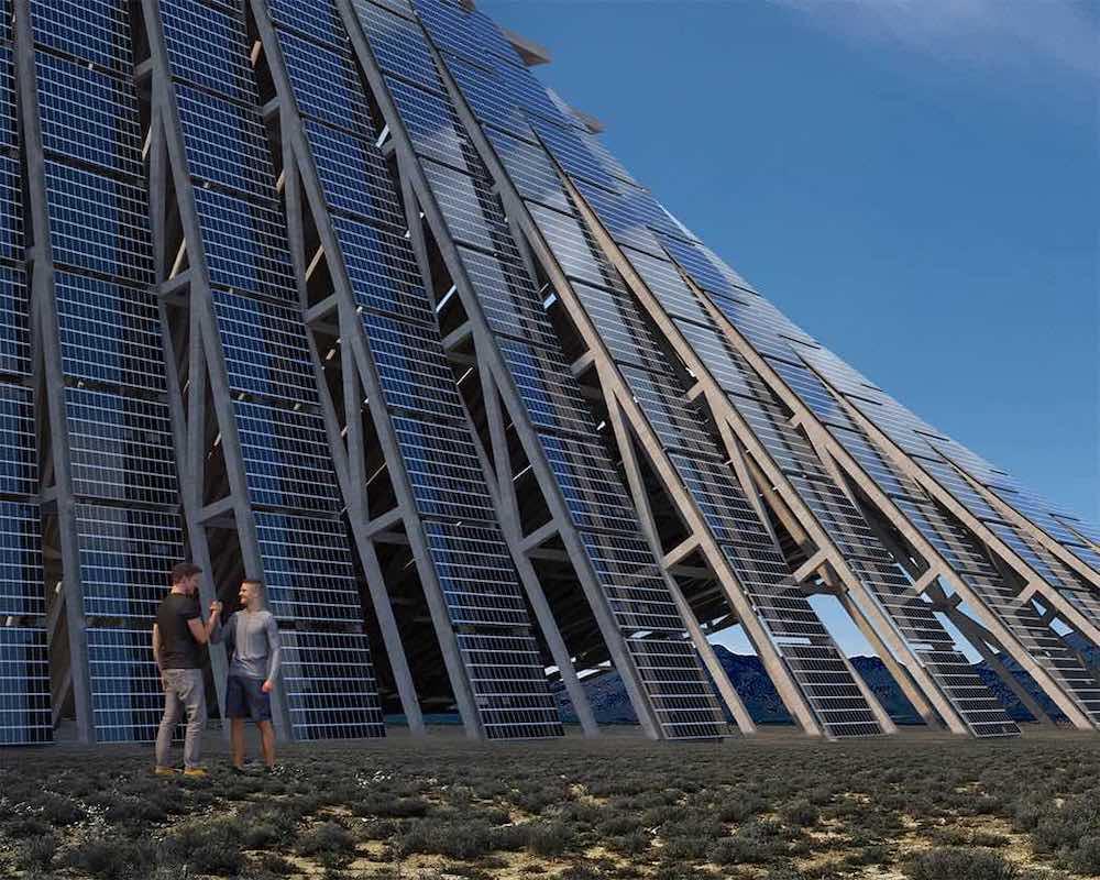 Photo du concept de Solar Mountain imaginé par Nudes