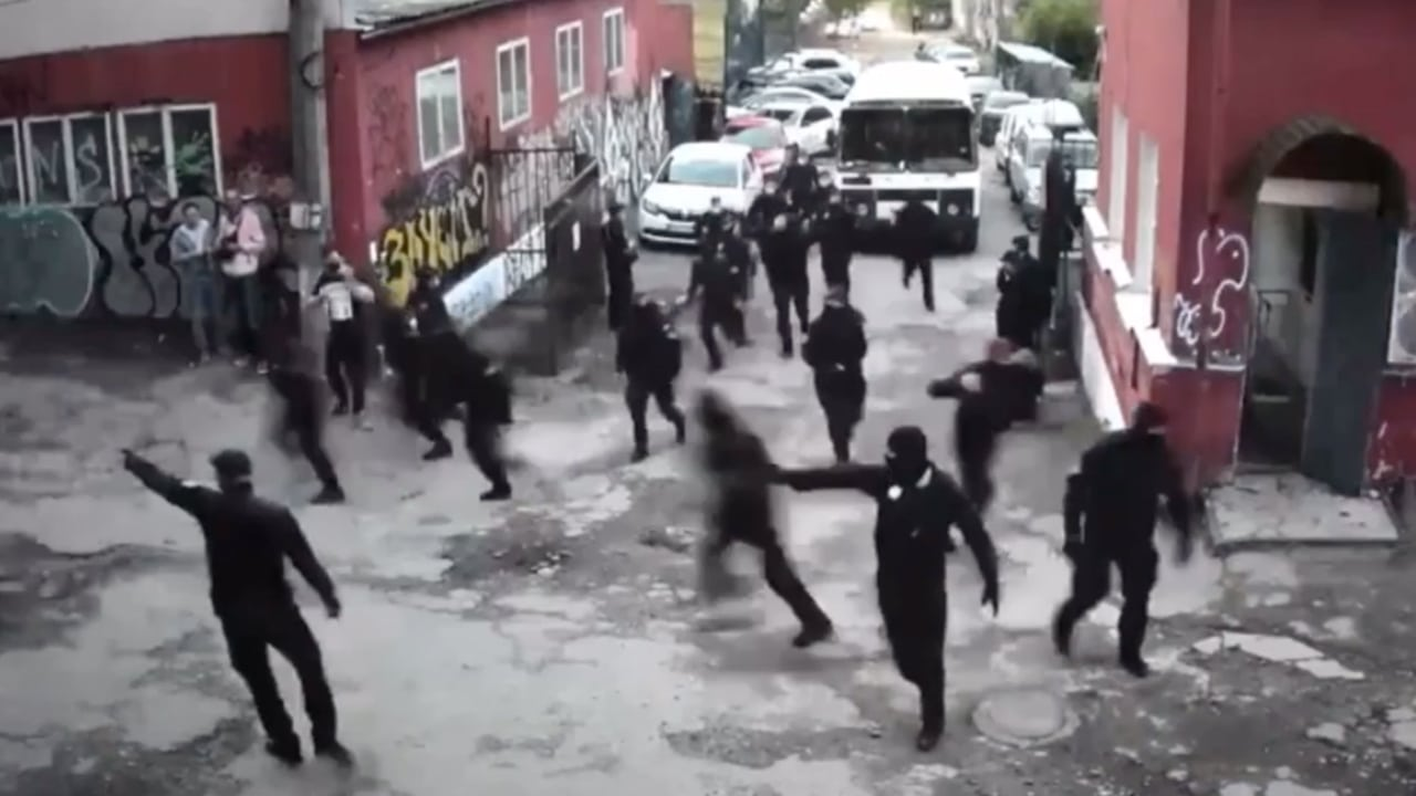 Photo du raid policier au Closer, Kiev