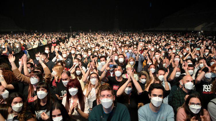 Concert test à Barcelone. Crédit : LLUIS GENE / AFP