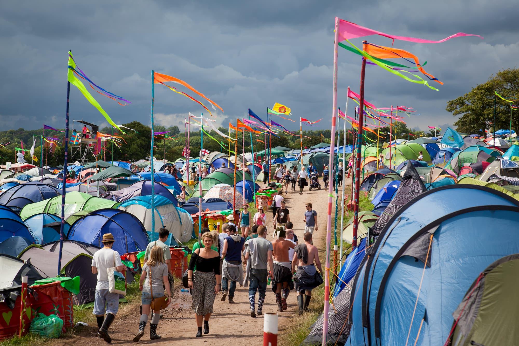 Camping au festival Glastonburry