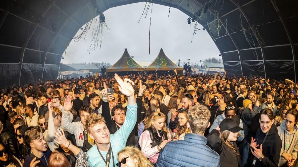 """Festival test """"Back To Live"""" aux Pays-Bas en mars 2021. Crédit : ANP"""