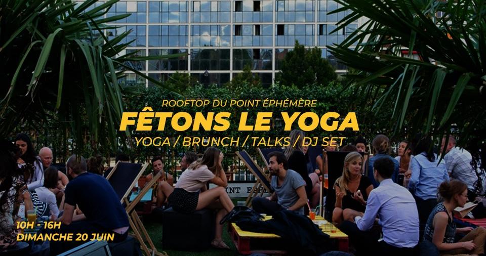 """Evenement """"Fêtons le Yoga"""" à Paris le 20 juin"""