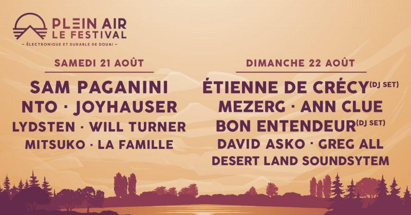 Programmation complète Plein Air Festival