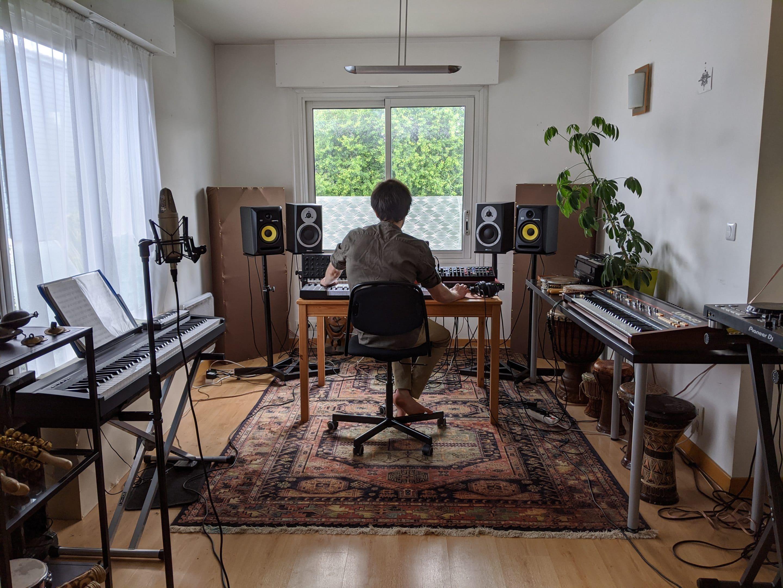 Jarl Flamar en studio
