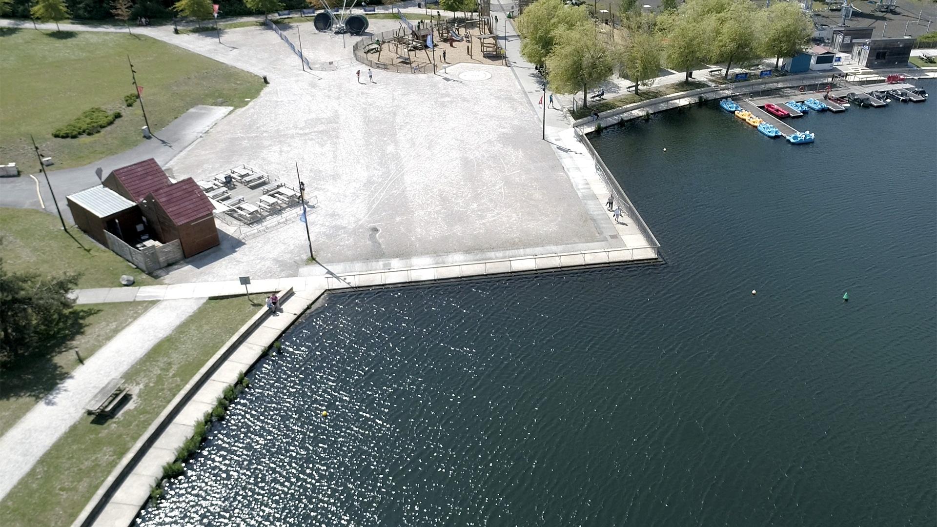 Vue aérienne du Parc Jacques Vernier