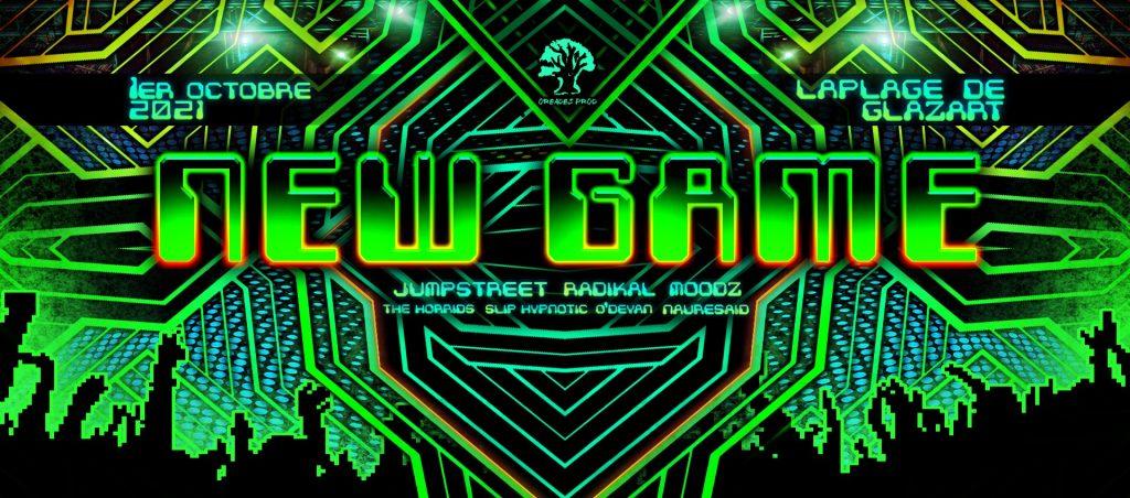 Affiche de la soirée New Game par Oréades