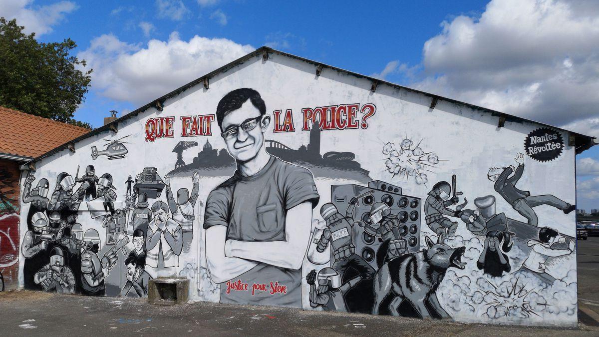 La fresque pour Steve quai Wilson, Nantes • © France Televisions - Luc Prisset
