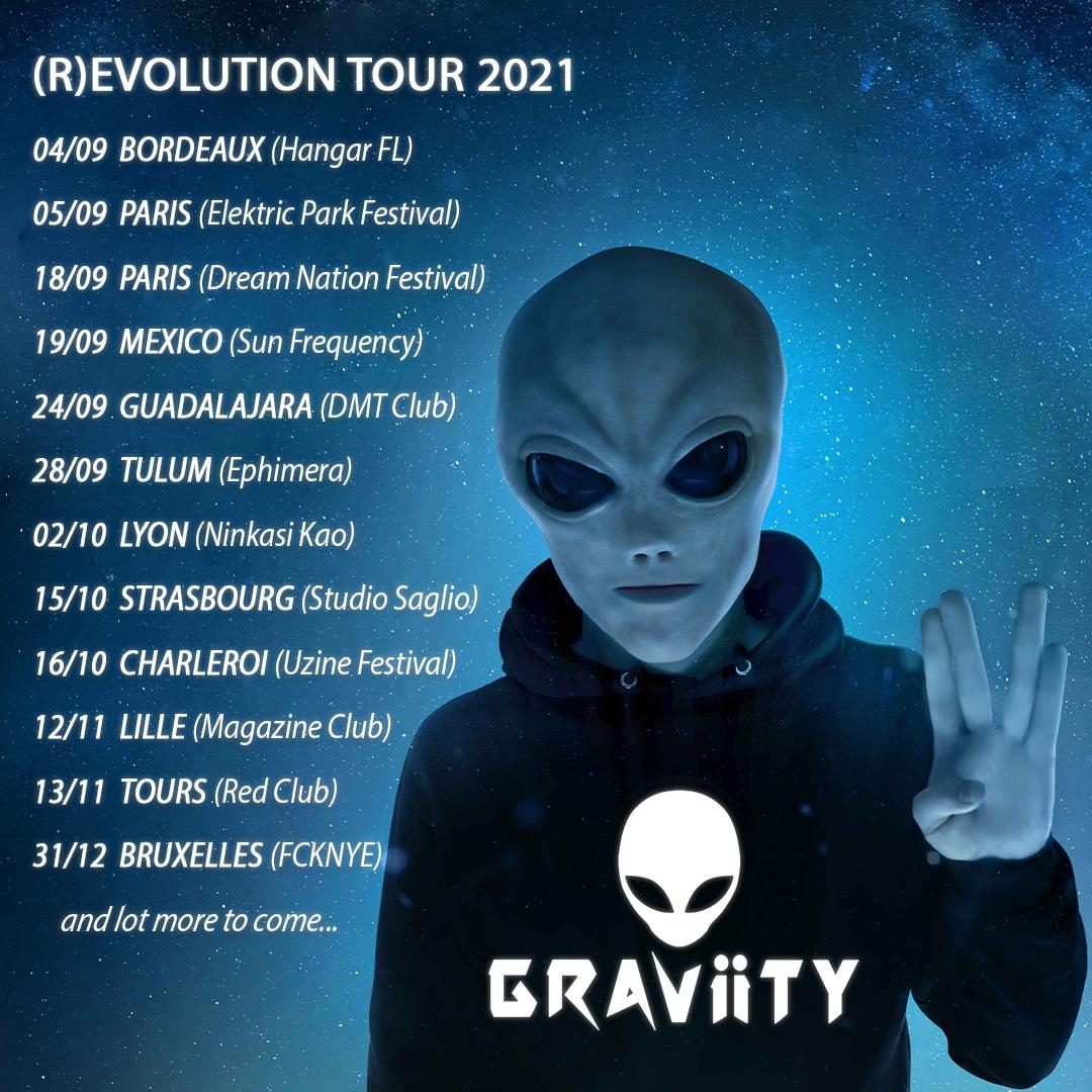 Dates de la tournée de Graviity
