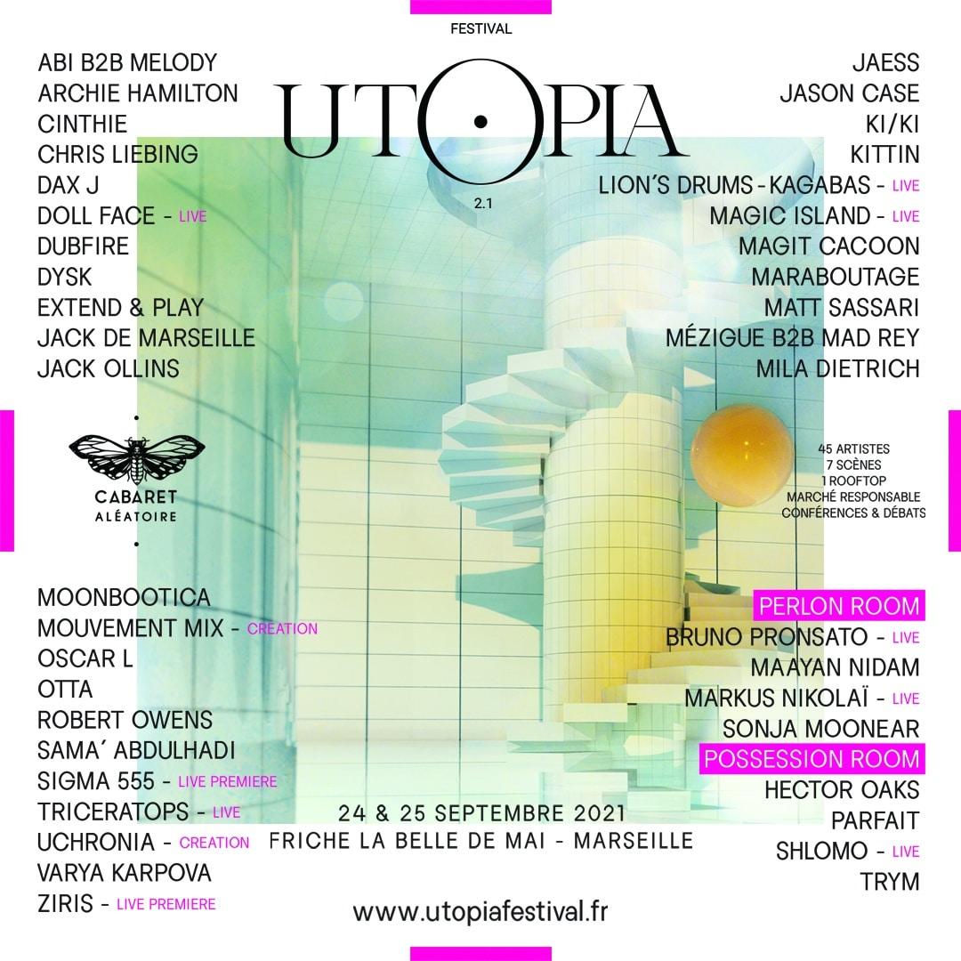 Affiche de l'Utopia Festival 2021