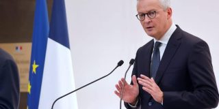 Photo de Bruno Le Maire. Crédit : EPA-EFE/LUDOVIC MARIN