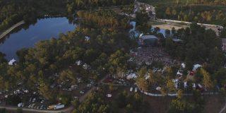 Vue aérienne du festival Freemusic en 2019
