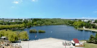 Photo de drone du Parc J Vernier à Douai