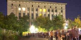 Berghain. Mandatory Credit: Photo by Image Broker/REX (2227351a) Berghain Club with queue, Berlin, Germany VARIOUS